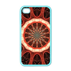 Circle Pattern Apple Iphone 4 Case (color)