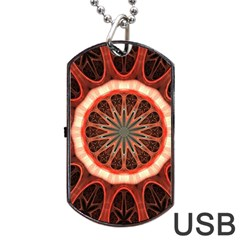 Circle Pattern Dog Tag Usb Flash (two Sides)