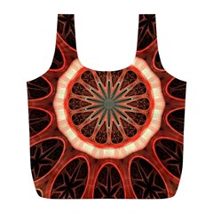 Circle Pattern Full Print Recycle Bags (l)