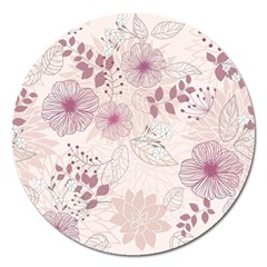 Leaves Pattern Magnet 5  (round)