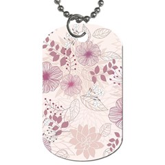 Leaves Pattern Dog Tag (one Side)