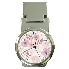 Leaves Pattern Money Clip Watches