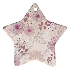 Leaves Pattern Star Ornament (two Sides)