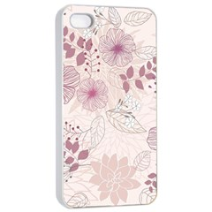 Leaves Pattern Apple Iphone 4/4s Seamless Case (white)