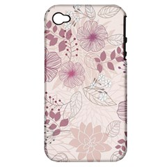 Leaves Pattern Apple Iphone 4/4s Hardshell Case (pc+silicone)
