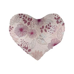 Leaves Pattern Standard 16  Premium Heart Shape Cushions