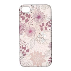 Leaves Pattern Apple Iphone 4/4s Hardshell Case With Stand