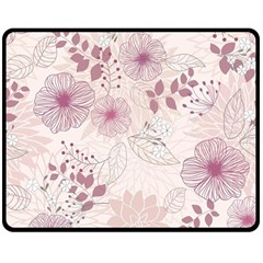 Leaves Pattern Double Sided Fleece Blanket (medium)