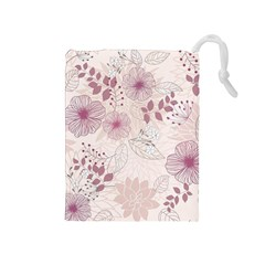 Leaves Pattern Drawstring Pouches (medium)