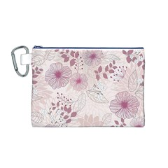 Leaves Pattern Canvas Cosmetic Bag (m)