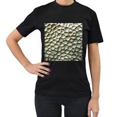 Ocean Pattern Women s T Shirt (black) (two Sided)