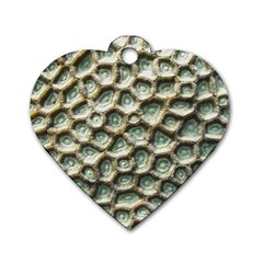 Ocean Pattern Dog Tag Heart (two Sides)