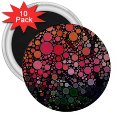 Circle Abstract 3  Magnets (10 Pack)
