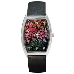 Circle Abstract Barrel Style Metal Watch