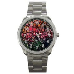 Circle Abstract Sport Metal Watch