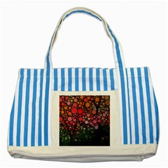 Circle Abstract Striped Blue Tote Bag