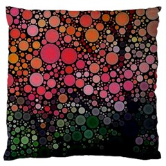 Circle Abstract Large Flano Cushion Case (two Sides)