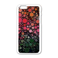 Circle Abstract Apple Iphone 6/6s White Enamel Case