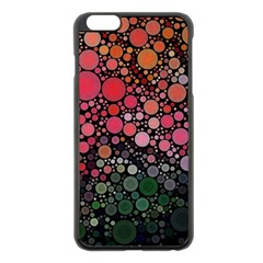 Circle Abstract Apple Iphone 6 Plus/6s Plus Black Enamel Case