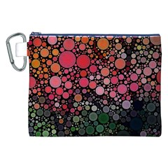 Circle Abstract Canvas Cosmetic Bag (xxl)