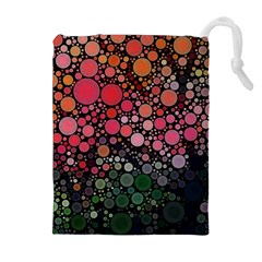 Circle Abstract Drawstring Pouches (extra Large)