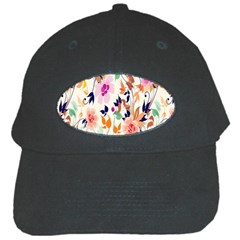 Vector Floral Art Black Cap