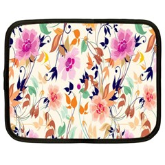 Vector Floral Art Netbook Case (xl)