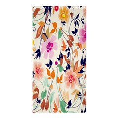 Vector Floral Art Shower Curtain 36  X 72  (stall)