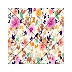 Vector Floral Art Acrylic Tangram Puzzle (6  X 6 )