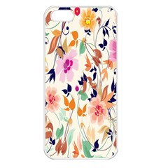 Vector Floral Art Apple Iphone 5 Seamless Case (white)