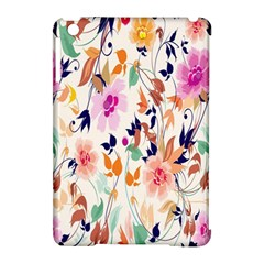 Vector Floral Art Apple Ipad Mini Hardshell Case (compatible With Smart Cover)