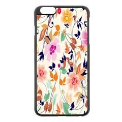 Vector Floral Art Apple Iphone 6 Plus/6s Plus Black Enamel Case