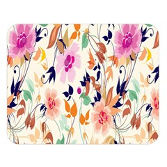 Vector Floral Art Double Sided Flano Blanket (large)