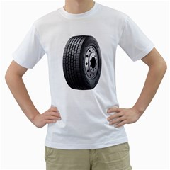 Tire Men s T Shirt (white) (two Sided)