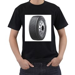 Tire Men s T Shirt (black) (two Sided)