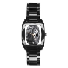 Tire Stainless Steel Barrel Watch