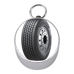 Tire Mini Silver Compasses