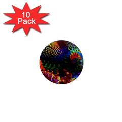 Colored Fractal 1  Mini Magnet (10 Pack)