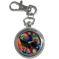 Colored Fractal Key Chain Watches
