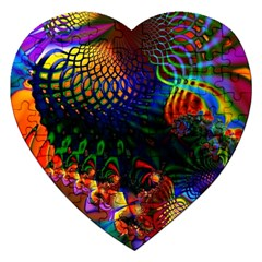 Colored Fractal Jigsaw Puzzle (heart)