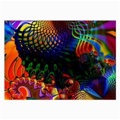 Colored Fractal Large Glasses Cloth (2 Side)