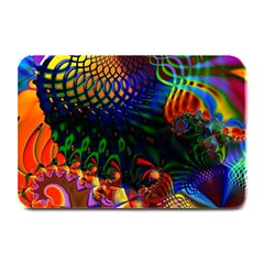 Colored Fractal Plate Mats