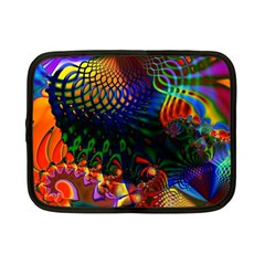 Colored Fractal Netbook Case (small)