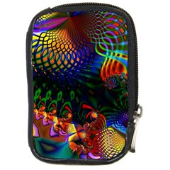 Colored Fractal Compact Camera Cases