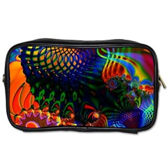 Colored Fractal Toiletries Bags 2 Side