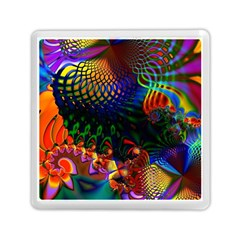 Colored Fractal Memory Card Reader (square)