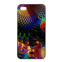 Colored Fractal Apple Iphone 4/4s Seamless Case (black)