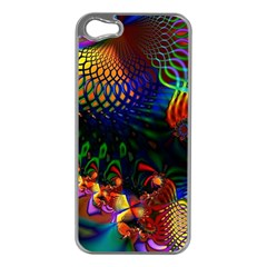 Colored Fractal Apple Iphone 5 Case (silver)