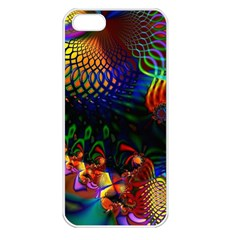 Colored Fractal Apple Iphone 5 Seamless Case (white)
