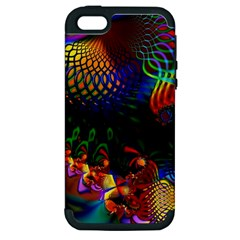 Colored Fractal Apple Iphone 5 Hardshell Case (pc+silicone)